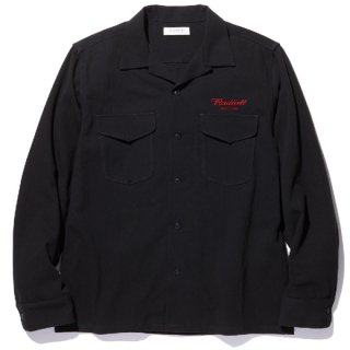 RADIALL 「ROAD SIDE - OPEN COLLARED SHIRT L/S」 オープンカラーシャツ ■BLK