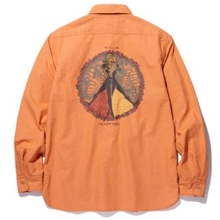 RADIALL 「CIRCLE OF LOVE - REGULAR COLLARED SHIRT L/S」 コットンワークシャツ ■ORG