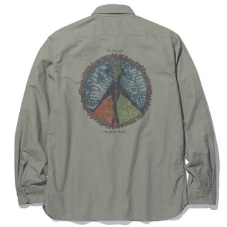 RADIALL 「CIRCLE OF LOVE - REGULAR COLLARED SHIRT L/S」 コットンワークシャツ ■OLIVE