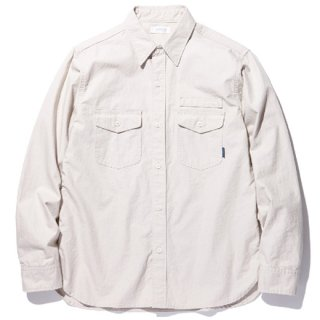 RADIALL 「CIRCLE OF LOVE - REGULAR COLLARED SHIRT L/S」 コットンワークシャツ ■SAND BEIGE