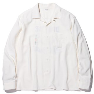 RADIALL 「SPACE ECHO - OPEN COLLARED SHIRT L/S」 レーヨンオープンカラーシャツ ■WHT