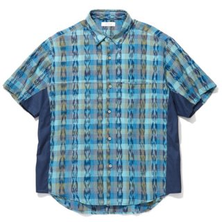RADIALL 「EL CAMINO - REGULAR COLLARED SHIRT S/S」 半袖シャツ ■TURQUOISE GRN