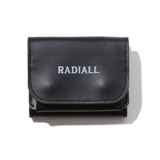 RADIALL 「PLAIN - TRIFOLD WALLET」 レザーウォレット ■BLK