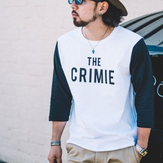 CRIMIE 「THE CRIMIE BASE BALL T-SHIRT」 7分丈ベースボールTシャツ ■WHT