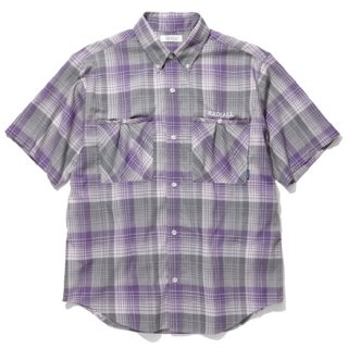 RADIALL 「COMPTON - REGULAR COLLARED SHIRT S/S」 半袖チェックシャツ ■PURPLE HAZE