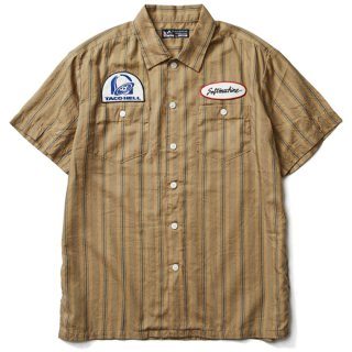 SOFTMACHINE 「WILLIAM SHIRTS」 半袖ワークシャツ ■BEIGE