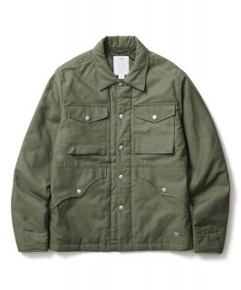 BACK SATAIN THINSULATE COVER ALL JACKET OLIVE