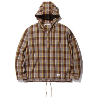 <img class='new_mark_img1' src='https://img.shop-pro.jp/img/new/icons14.gif' style='border:none;display:inline;margin:0px;padding:0px;width:auto;' />RADIALL EL CAMINO - HOODED SHIRT L/S BROWN