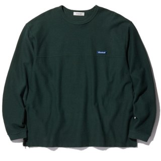RADIALL  FLAGS - CREW NECK T-SHIRT L/S GREEN