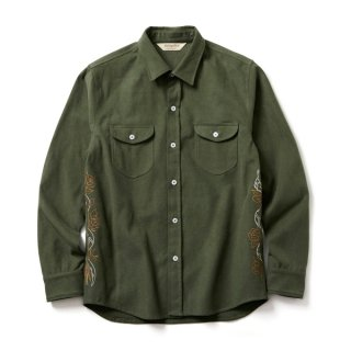 <img class='new_mark_img1' src='//img.shop-pro.jp/img/new/icons41.gif' style='border:none;display:inline;margin:0px;padding:0px;width:auto;' />SOFTMACHINE FATE SHIRTS  FLANNEL SHIRTS  OLIVE