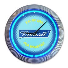 RADIALL FLAGS - NEON CLOCK