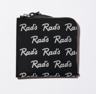 RADIALL   RAD'S - ZIP SQUARE WALLET  BLACK