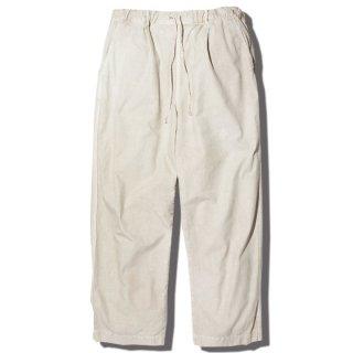 RADIALL  DOWN HILL - WIDE FIT EASY PANTS  WHITE