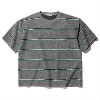 RADIALL SKUNK - CREW NECK POCKET T-SHIRT S/S GREY