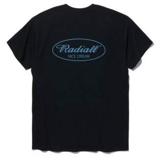 RADIALL OVAL C.N. T-SHIRTS  ASH BLK