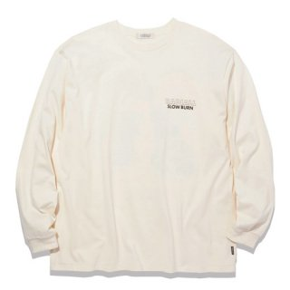 RADIALL SLOW BURN - CREW NECK T-SHIRT L/S O.WHT