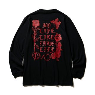 SOFTMACHINE SHAKUR  LONG SLEEVE  TEE  BLK
