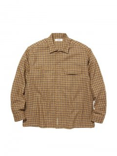 RADIALL  IMPERIAL - OPEN COLLARED SHIRT L/S OLIVE