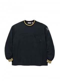 RADIALL SYNDICATE - CREW NECK POCKET T-SHIRT L/S BLK