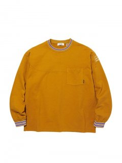 RADIALL SYNDICATE - CREW NECK POCKET T-SHIRT L/S MUSTARD