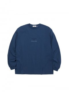 RADIALL SOP - CREW NECK T-SHIRT L/S NVY