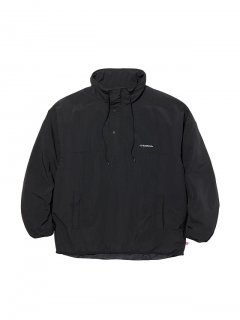 RADIALL CUTLASS - STAND COLLARED PULLOVER JACKET BLACK
