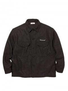 RADIALL FLAGS - REGULAR COLLARED SHIRT L/S  BLK