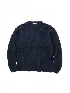 RADIALL  DOWN HOME - CREW NECK SWEATER L/S NVY