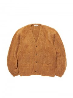 RADIALL  DOWN HOME - CARDIGAN SWEATER L/S CAMEL