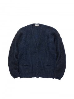 RADIALL  DOWN HOME - CARDIGAN SWEATER L/S NVY