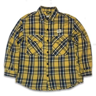 <img class='new_mark_img1' src='https://img.shop-pro.jp/img/new/icons14.gif' style='border:none;display:inline;margin:0px;padding:0px;width:auto;' />HARDEE HEAVY FLANNEL SHIRTS YEL