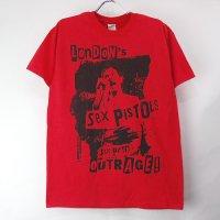 (M) セックスピストルズ London's Outrage Tシャツ(新品)