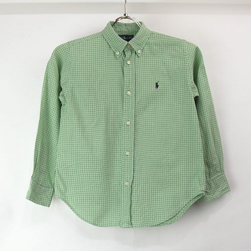 【表記キッズ6 】ラルフローレン キッズ ボタンダウンシャツ 古着