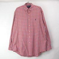 【表記M 】ラルフローレン チェック ボタンダウンシャツ 古着 【メール便可】(sale商品)