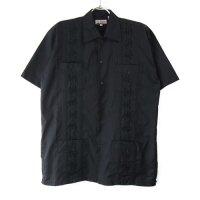 (BLK/L) Chic Elegant  キューバシャツ(新品)【メール便可】