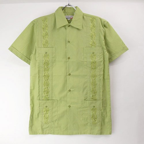 (GRN/M) Chic Elegant  キューバシャツ(新品)【メール便可】