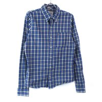 アバクロンビー チェックシャツ BLUE 古着【メール便可】(sale商品)
