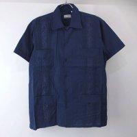 (NVY/L)  Chic Elegant  キューバシャツ(新品)【メール便可】