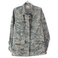 (8S) エアフォースタイガーストライプ ウーマンズ BDU シャツジャケット 古着