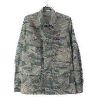 (34S) エアフォースタイガーストライプ BDU シャツジャケット 古着  ミリタリー 米軍