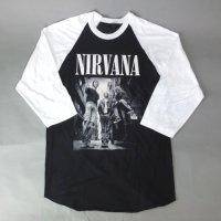 (M)  ニルヴァーナ  ベースボール Tシャツ(新品)【メール便可】