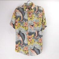 【30%オフ】 JAMAICA カジキマグロ柄 ハワイアンシャツ  リサイズ【メール便可】(sale商品)