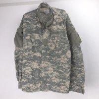 (LR) ACU カモ ミリタリーシャツジャケット