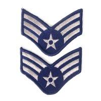 U.S.AIR FORCE E4 上級空兵   2枚セット ワッペン パッチ デッドストック【メール便のみ】