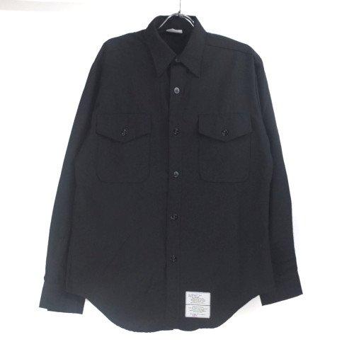 米軍 U.S.NAVY ブラックシャツ 16-34SL