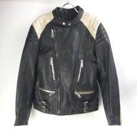 ECHTES LEDER  黒白 ライダース レザージャケット(sale商品)