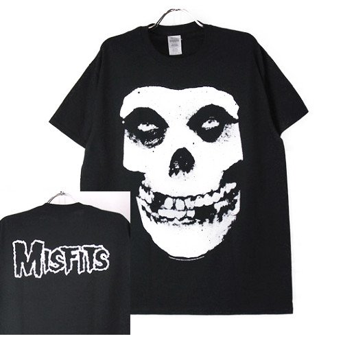 (XL) ミスフィッツ Skull Tシャツ(新品) 【メール便可】