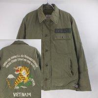 バック刺繍 A-2 デッキジャケット 古着リメイク #1