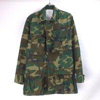 ウッドランドカモ BDU シャツジャケット (XSR)米軍 80年代 実物
