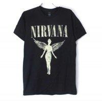 (L) ニルヴァーナ   IN UTERO TOUR Tシャツ (新品)【メール便可】